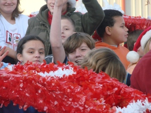 This was probably the happiest kid in the parade!